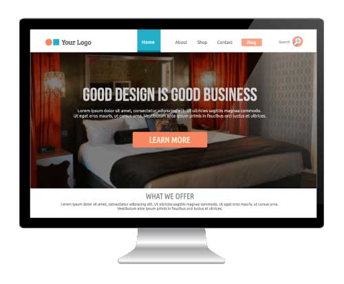 appealing website for more hotel room bookings