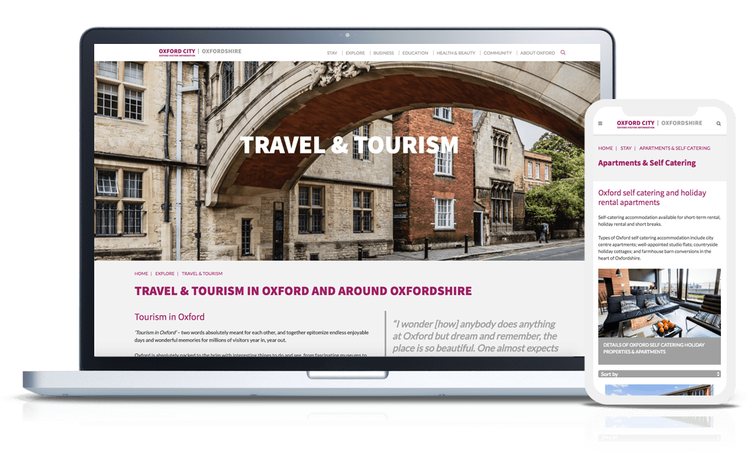 website design work examples oxford city