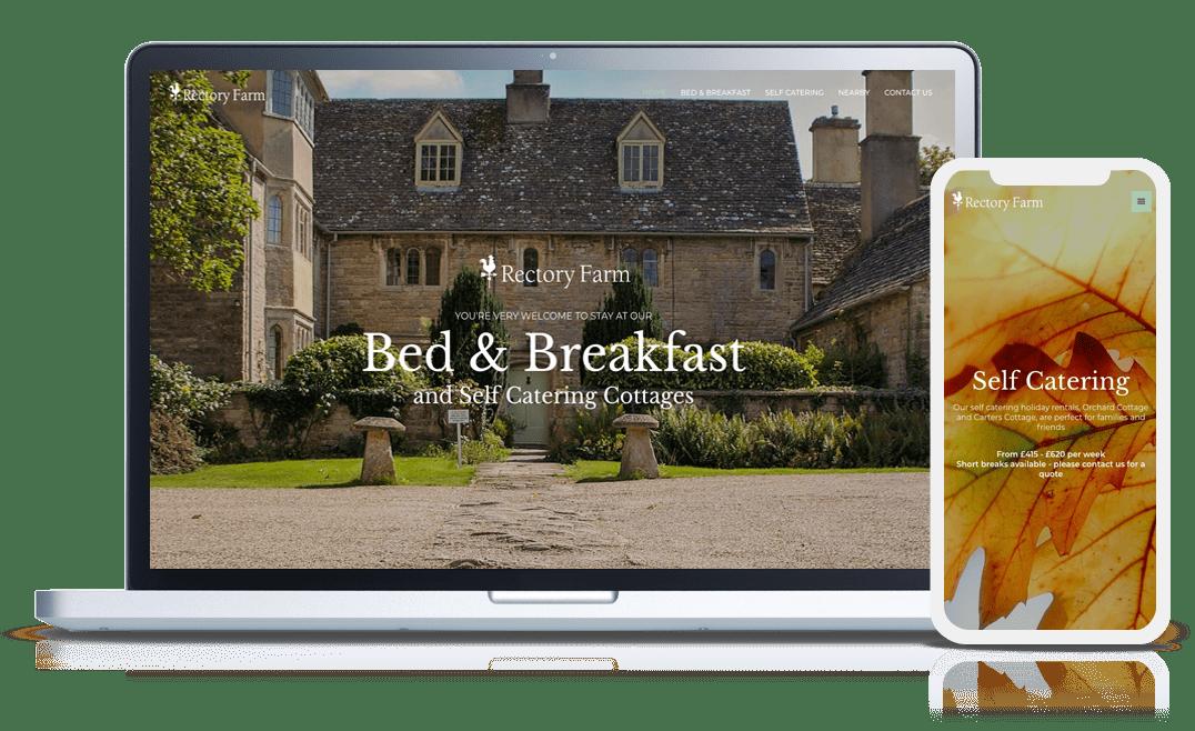 website design example rectory farm