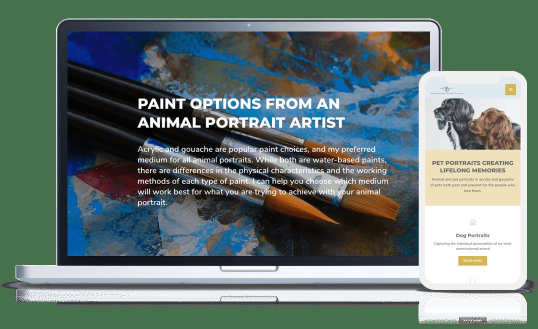 website design example sarah bowman