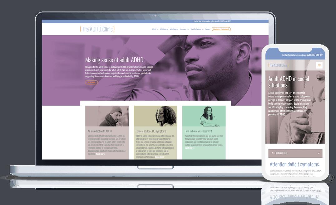 the adhd clinic web design development