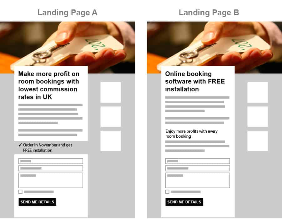 landing page best practice - one page for every campaign message